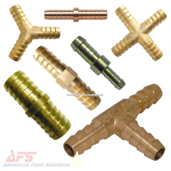 Brass Barbed Hose Joiners Menders Tees & Crosses